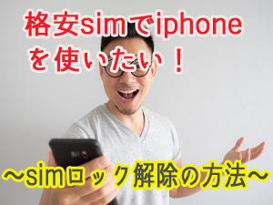 格安sim iphone